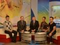 Echipa Colegiului de muzica Stefan Neaga la programul Buna dimineata 6 noiembrie