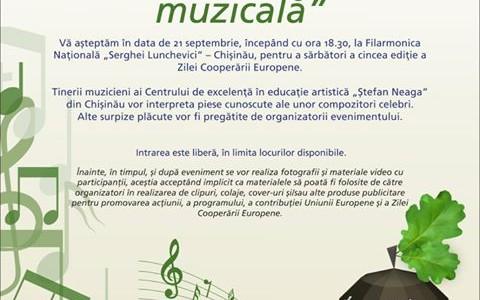"""""""Cooperare europeană muzicală"""" de Ziua Cooperării Europene, a V-a ediție, 21 septembrie 2016"""
