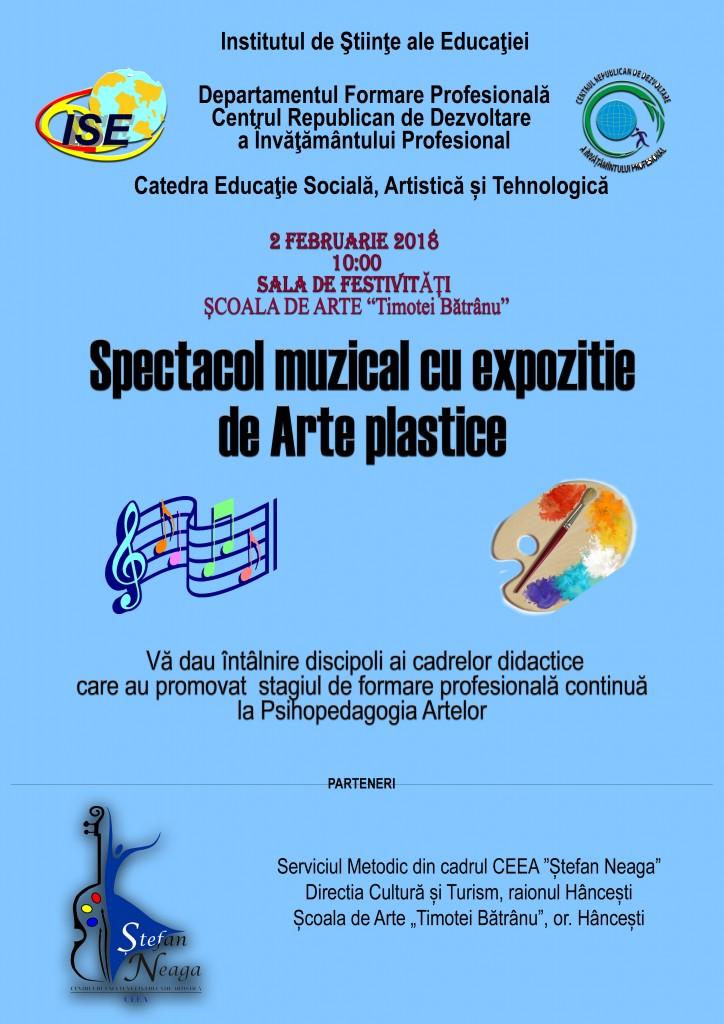 Spectacol muzical cu expoziție de arte plastice
